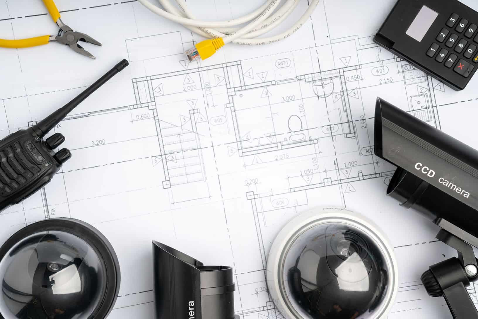 cctv security online camera with house plan 1
